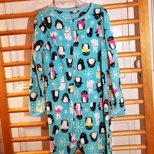 Carter's Footed pajamas 7 fleece Penguin Bunny